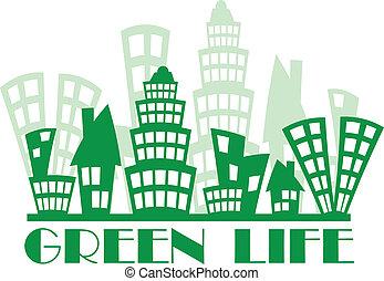 verde, cidade