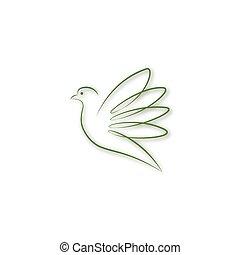 verde, colomba