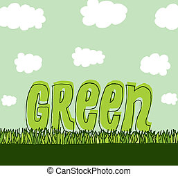 verde, com, copyspace, /, limpo, meio ambiente
