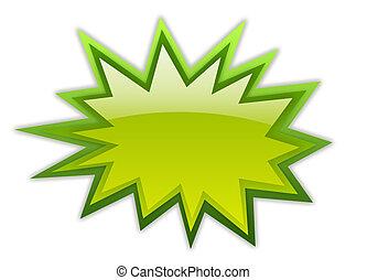 verde, crescimento, ícone