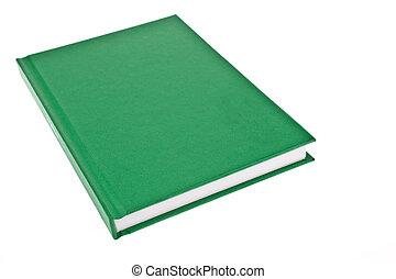 verde, cubierta de libro