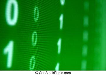 verde, datos, espacio