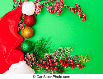verde, decoraciones de navidad