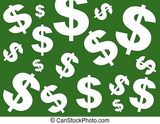 verde, dollaro, fondo, segno