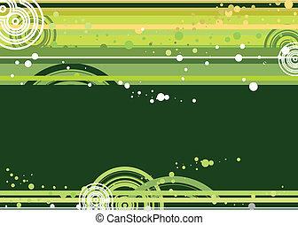 verde, e, giallo, doted, fondo