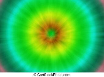 verde, e, laço amarelo, tintura, retro, fundo