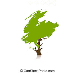 verde, eco, árvore