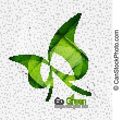 verde, eco, insolito, fondo, concetto