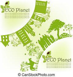 verde, ecológico, planeta