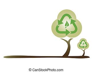verde, ecologia, conceito, árvore
