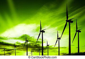 verde, ecologia, vento
