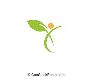 verde, ecologia, vettore, foglia, logotipo