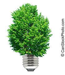 verde, energía