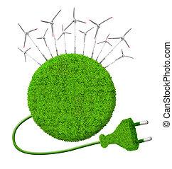 verde, energía, conceptos