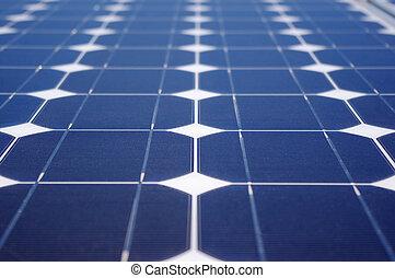 verde, energía, panel solar