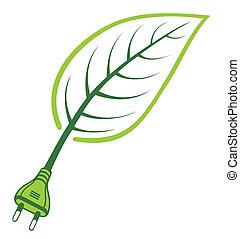 verde, energía, -, potencia, renovable