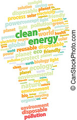 verde, energia, parola, pulito, nuvola