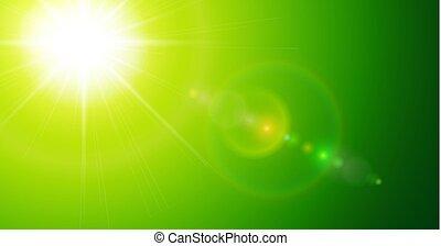verde, ensolarado, fundo