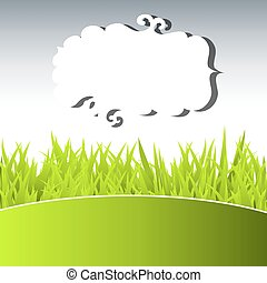 verde, erba, cielo
