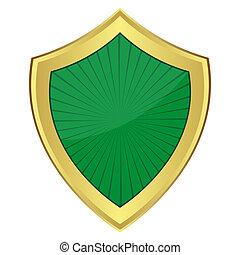 verde, escudo