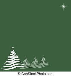 verde, estrela, árvores natal
