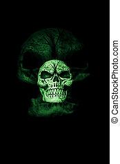 verde, fantasma, cranio