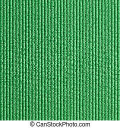 verde, felpudo de yoga, textura, plano de fondo