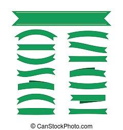 verde, fita, bandeiras, jogo, decoração