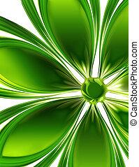 verde, flor