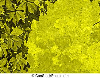 verde, floreale, fondo