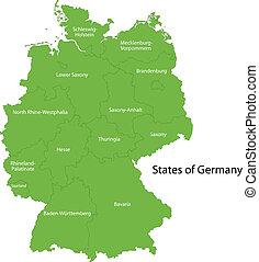 verde, germania, mappa