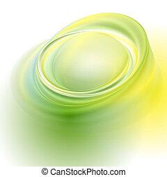 verde, giallo, vettore, astratto