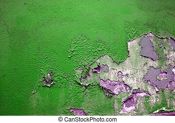 verde, grunge, pintura