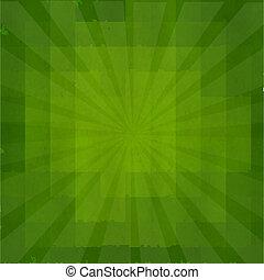 verde, grunge, plano de fondo, textura, con, sunburst