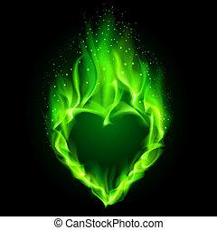 verde, heart., infocato
