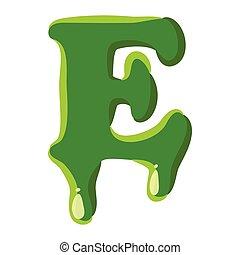 verde, hecho, e, limo, carta