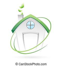 verde, hogar