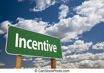 verde, incentivo, muestra del camino