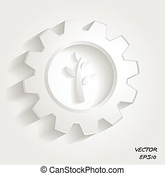 verde, industrial, símbolo