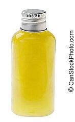 verde, isolado, garrafa, loção
