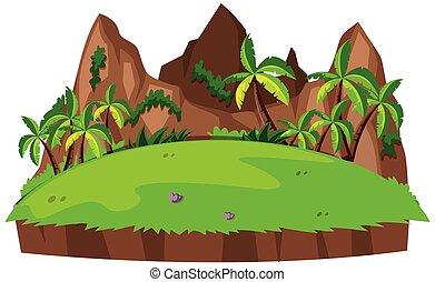 verde, isolato, paesaggio, natura