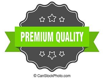 verde, isolato, seal., qualità, premio, label.