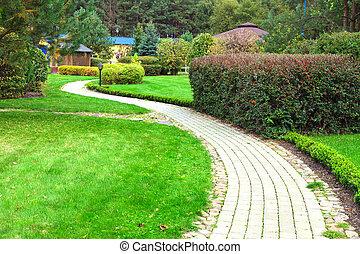 verde, jardim