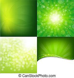verde, jogo, fundos, natureza