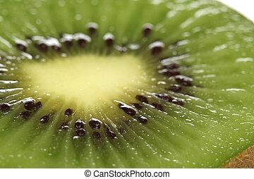 verde, kiwi, isolado, branco