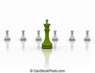 verde, líder