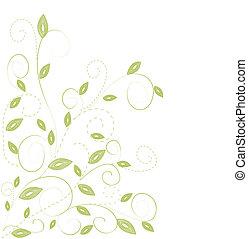 verde, leaf., vetorial