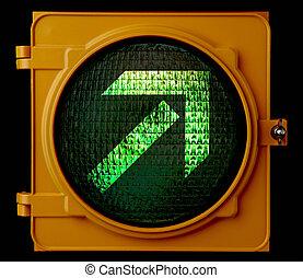 verde ligero, direccional