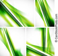 verde, linhas, fundo