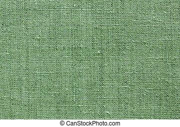 verde, linho, textura, para, a, fundo